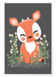Poster  Animal friends - The fawn - Kanzi Lue
