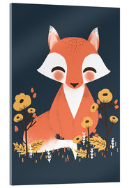 Acrylic glass  Animal friends - The fox - Kanzi Lue