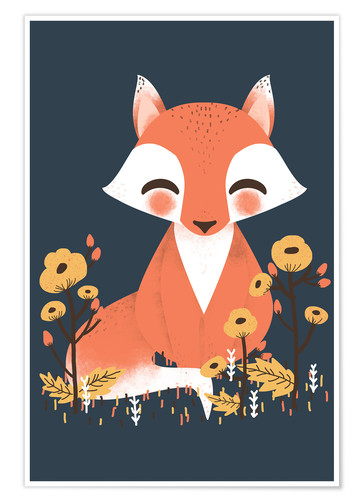 Poster Animal friends - The fox