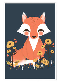 Premium poster  Animal friends - The fox - Kanzi Lue