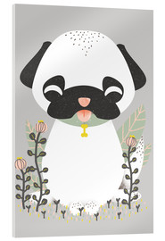 Acrylic print  Animal friends - The pug - Kanzilue