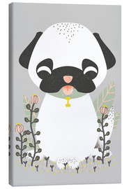 Canvas print  Animal friends - The pug - Kanzilue