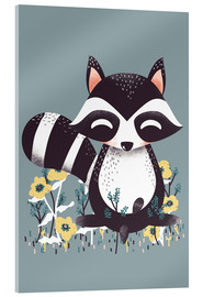 Acrylic glass  Animal friends - The raccoon - Kanzi Lue