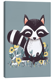 Canvas print  Animal friends - The raccoon - Kanzi Lue