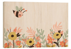 Wood print  Animal friends - The bee - Kanzilue