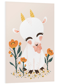 Foam board print  Animal friends - The goat - Kanzilue