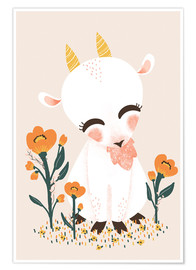 Premium poster Animal friends - The goat