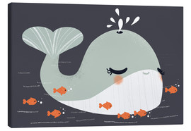 Canvas  Animal friends - The whale - Kanzi Lue