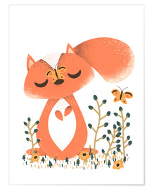 Poster  Animal friends - The squirrel - Kanzi Lue