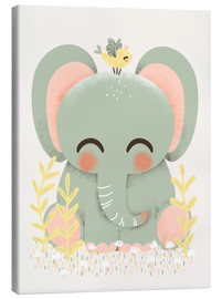 Canvas  Animal friends - The elephant - Kanzi Lue