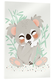 Acrylic print  Animal friends - the koala - Kanzi Lue