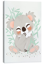 Canvas print  Animal friends - the koala - Kanzilue