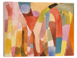 Wood print  Movement of Vaulted Chambers - Paul Klee