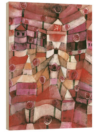 Wood print  Rose garden - Paul Klee