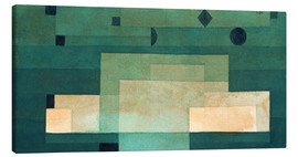 Canvas print  Firmament above the temple - Paul Klee