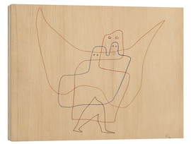 Wood print  Angels Shut - Paul Klee