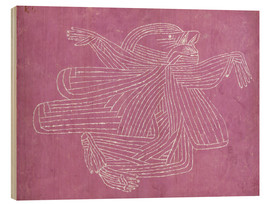 Wood print  The Creator - Paul Klee