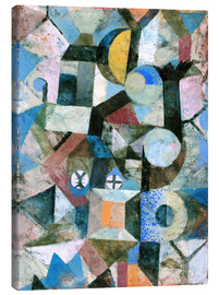 Canvas  Composition with the Yellow Half-Moon and the Y - Paul Klee