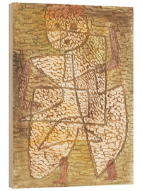 Wood print  The man of the future - Paul Klee