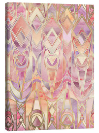 Canvas print  Glowing Coral and Amethyst Art Deco Pattern - Micklyn Le Feuvre