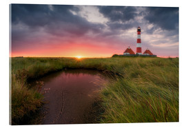 Acrylic glass  Terp Inferno (Westerhever Lighthouse) - Dirk Wiemer