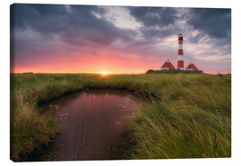 Canvas print  Terp Inferno (Westerhever Lighthouse) - Dirk Wiemer