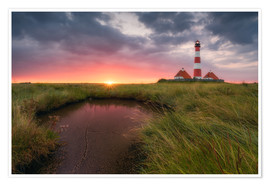 Premium poster Terp Inferno (Westerhever Lighthouse)