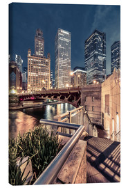 Canvas print  Night Walk Chicago - Sören Bartosch