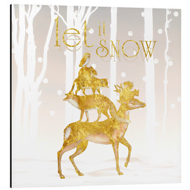 Aluminium print  Let It Snow - Mandy Reinmuth