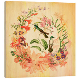 Wood print  Hummingbird II - Mandy Reinmuth