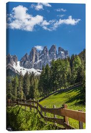 Canvas  Villnoess valley with Dolomites in South Tyrol (Italy) - Christian Müringer