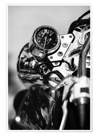 Premium poster  Speedometer of a motorcycle