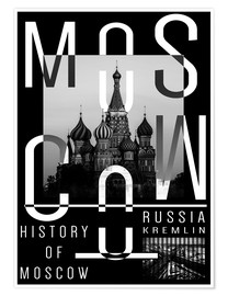 Premium poster  Moscow city - Typobox