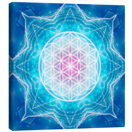 Canvas  Flower of Life - Multidimensionality - Dolphins DreamDesign