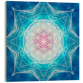 Wood print  Flower of Life - Multidimensionality - Dolphins DreamDesign