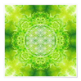 Premium poster Flower of Life - Healing Power of Nature