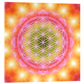 Acrylic glass  Flower of Life - Heart Energy - Dolphins DreamDesign