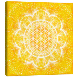 Canvas print  Flower of life - light power - Dolphins DreamDesign