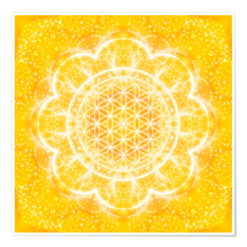 Premium poster Flower of life - light power