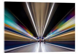 Acrylic print  Color explosion subway Munich - MUXPIX