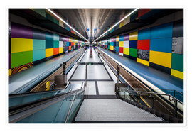 Premium poster Subway Munich - Georg-Brauchle-Ring 2