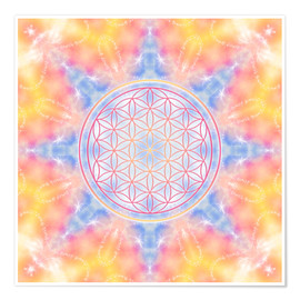 Premium poster  Flower of Life - Love and Gentleness - Dolphins DreamDesign