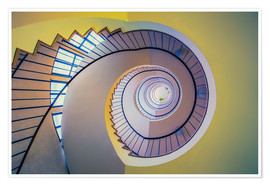 Premium poster  Staircase in crayon - MUXPIX