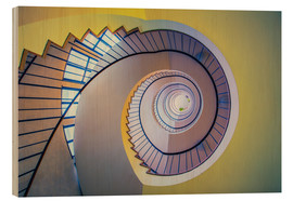 Wood  Staircase in crayon - MUXPIX