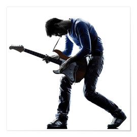 Poster  Musician with an electric guitar