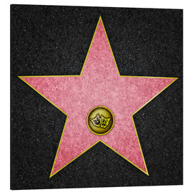 Aluminium print  Blank Theater star, Hollywood Boulevard