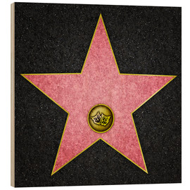 Wood print  Blank Theater star, Hollywood Boulevard
