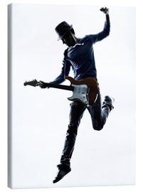 Canvas print  Electric guitarist jumping