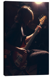 Canvas print  Musician with electric guitar