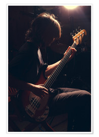 Poster Musician with electric guitar